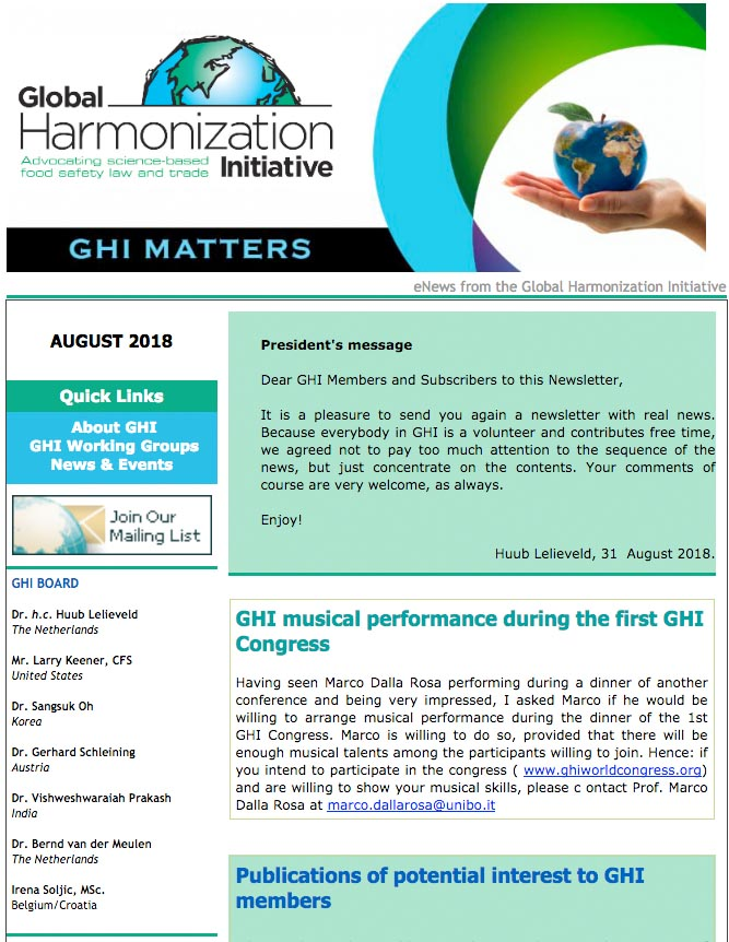 GHI Matters Aug 2018